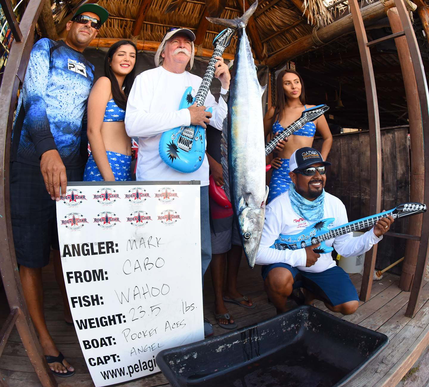 Pocket Aces Wahoo Weigh in Pelagic Rockstar Tuna Tourney