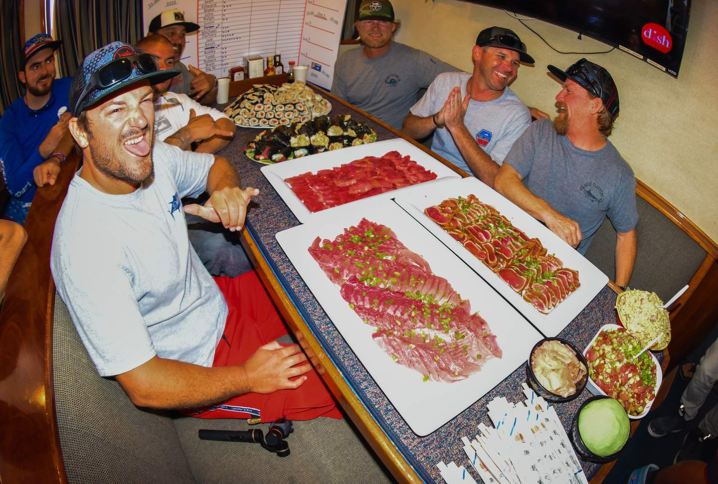 Pelagic Excel Catchin A Buzz Fishing Trip Sushi Spread