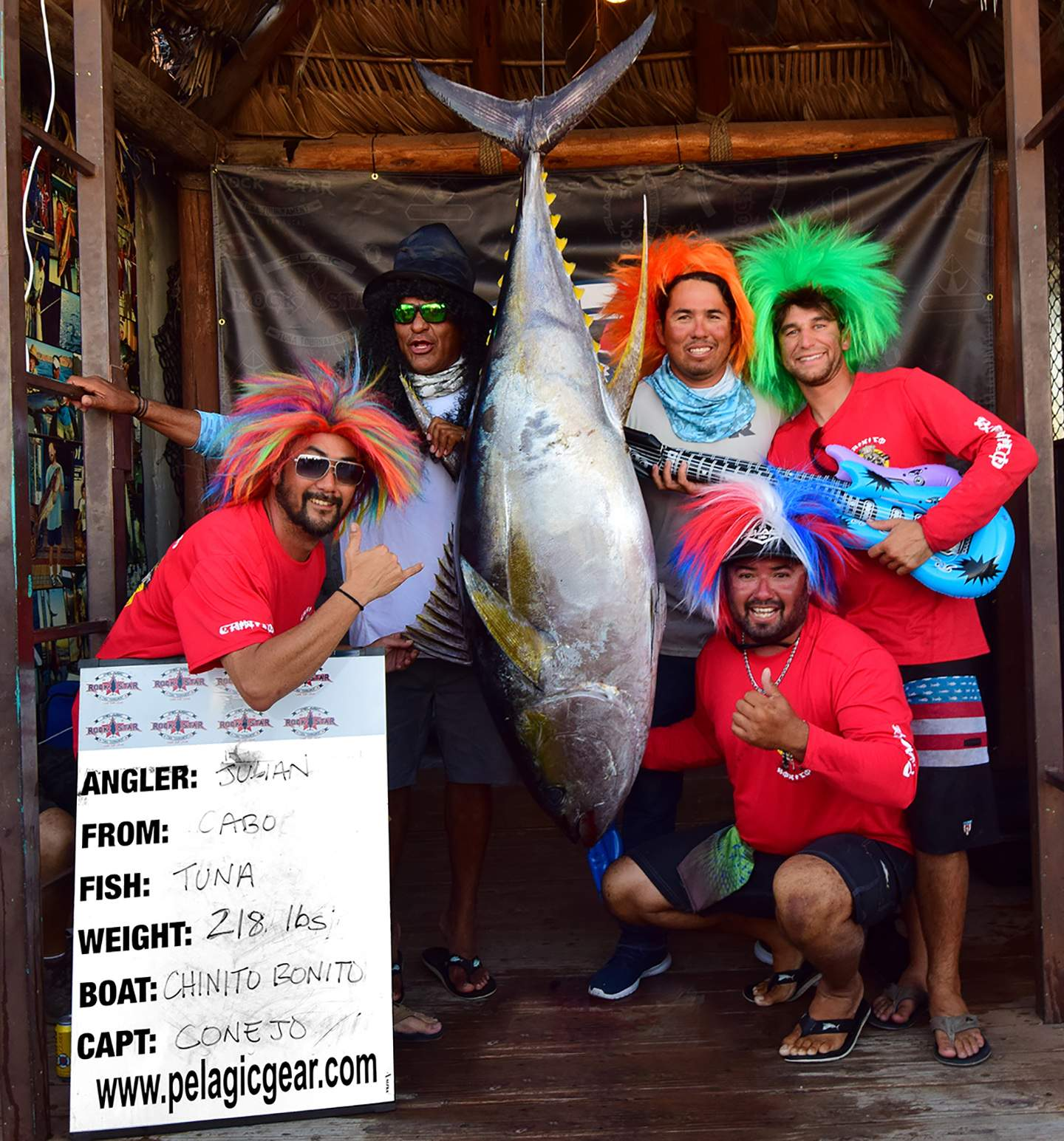 Chinito Bonito 218 Pelagic Rockstar Tuna Tournament