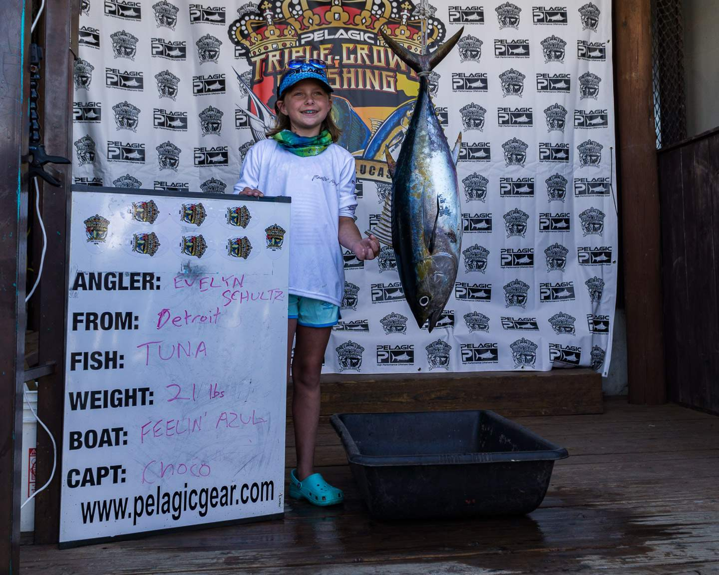 2019 Pelagic Triple Crown Cabo Feelin Azul Tuna