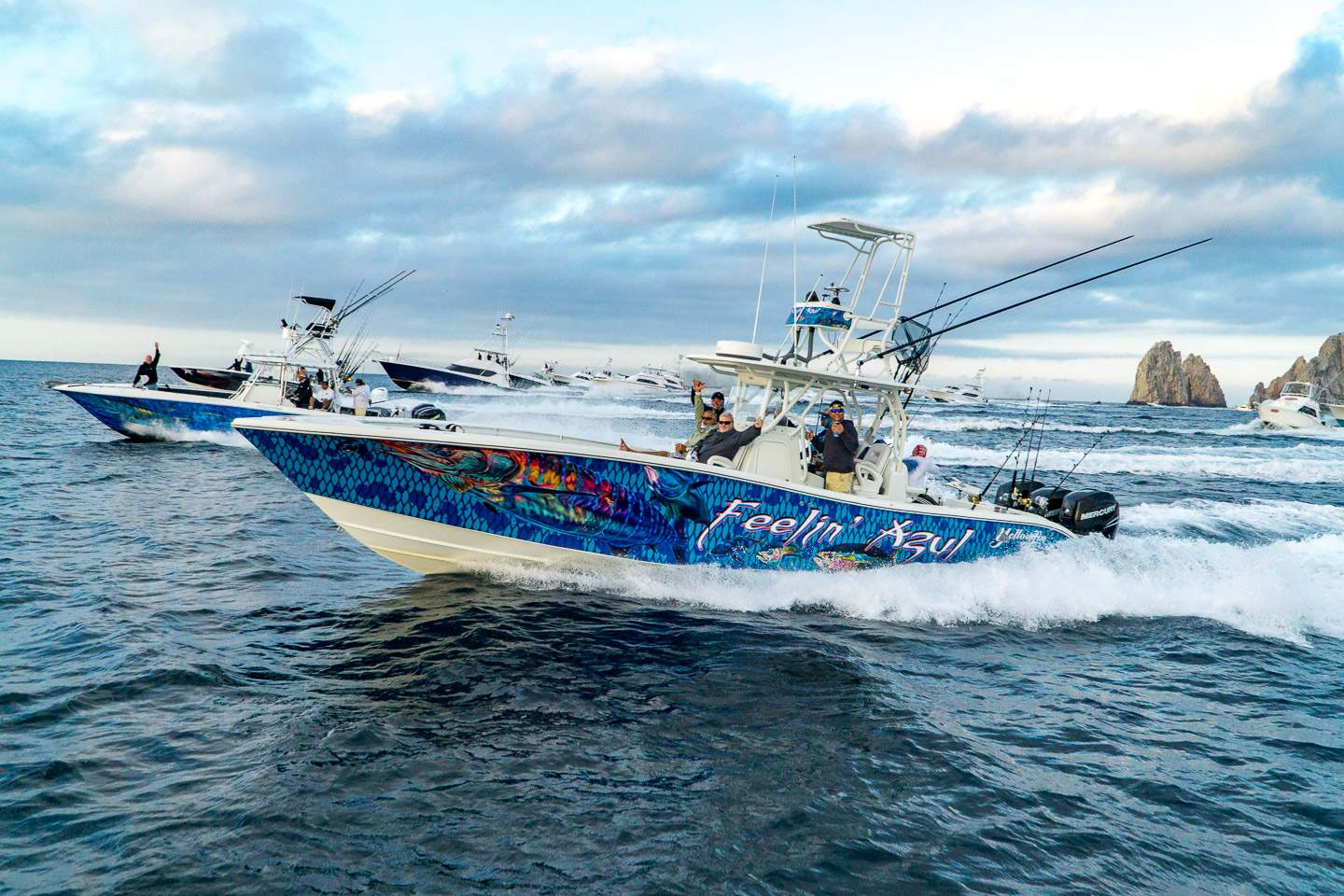 2019 Pelagic Triple Crown Cabo Boats Running