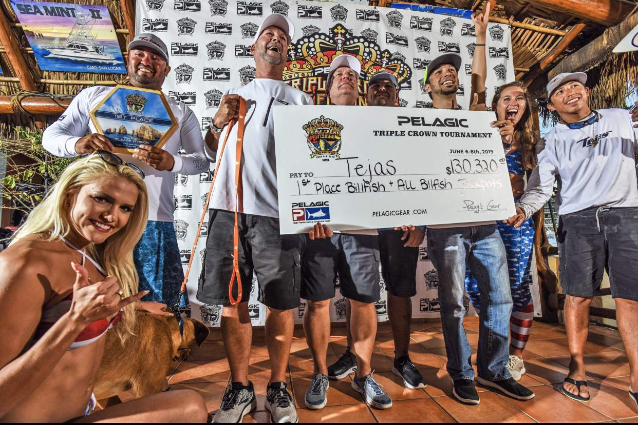 2019 Pelagic Triple Crown Cabo Tejas Winning Check