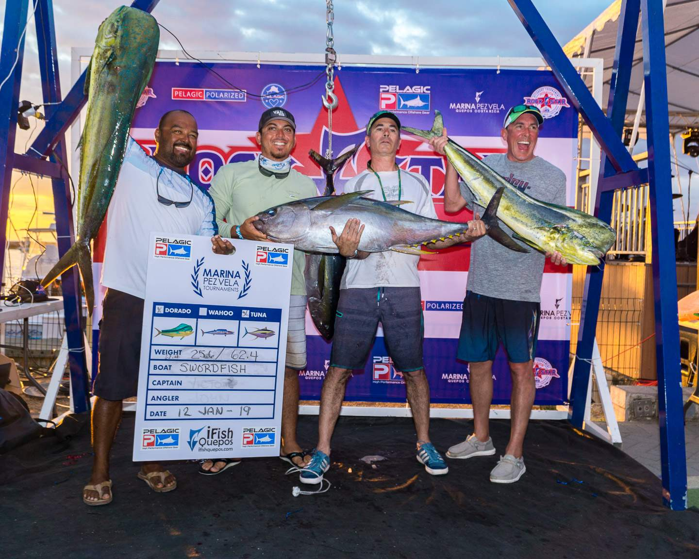 2019 Pelagic Rockstar Offshore Tournament Team Sworfish Weigh in